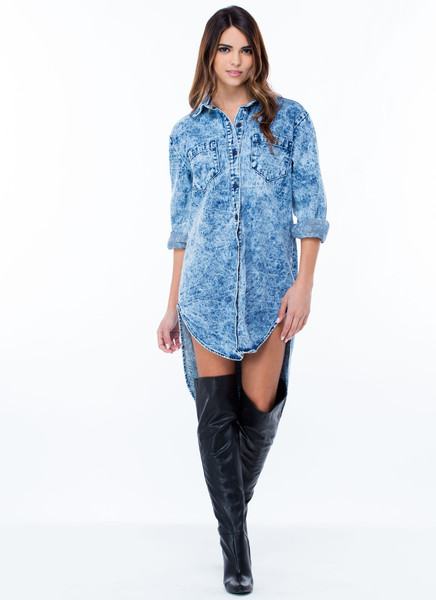 Fresh denim shirt dress mineral