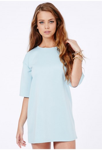 Nova Scuba Boxy Dress - Dresses - Missguided
