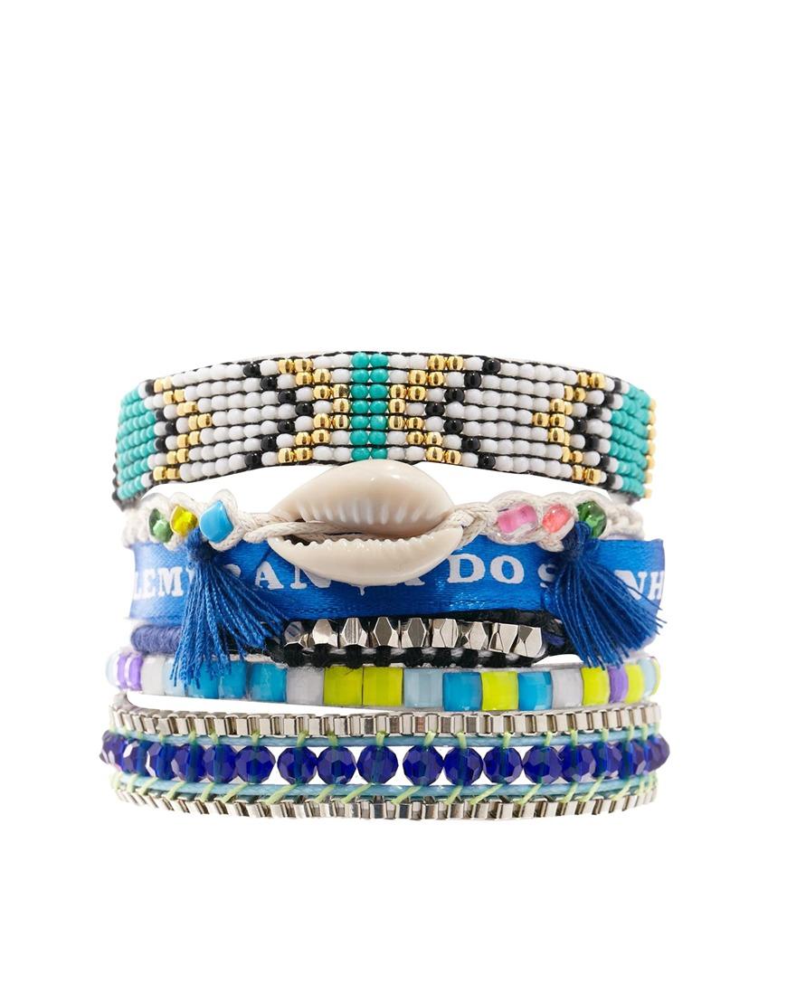 Hipanema Fluro Blue Friendship Bracelet at asos.com