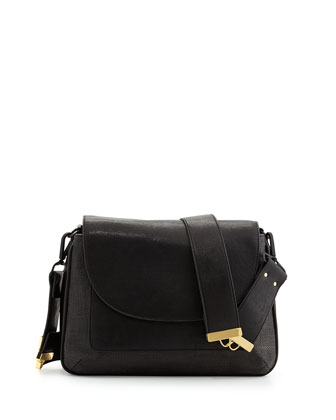 French Connection Mod Squad Faux Leather Shoulder Bag, Black