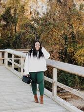 naja diamond,blogger,sweater,leggings,shoes,bag,plus size,ankle boots