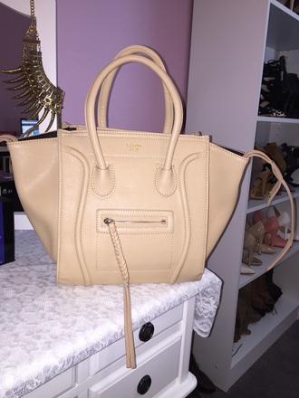 bag beige handbag celine celine handbag