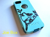 dress,iphone cover,iphone case,iphone 5 case,phone cover,light blue,teal,birds,cute,sale,etsy sale,glitter,bling,otterbox