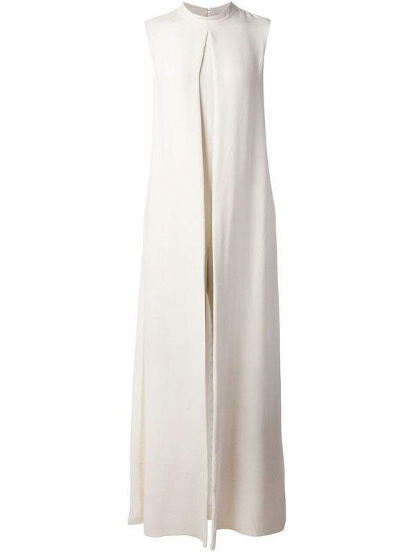 dress Valentino white dress sleeveless dress flowing gown