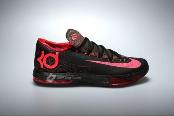 shoes black red pink kd kds