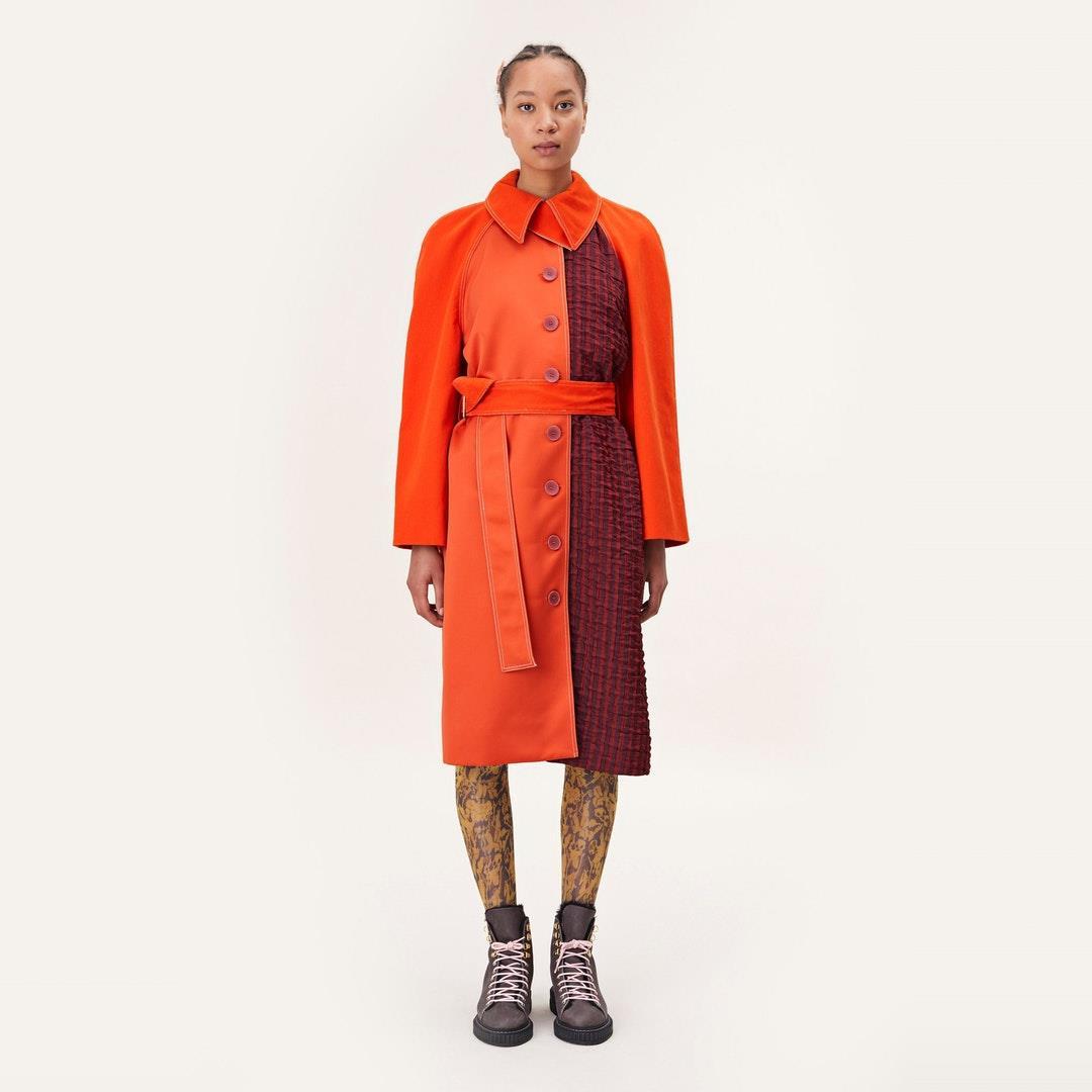 Harrison Mix Fabric Jacket - Dahlia - Stine Goya