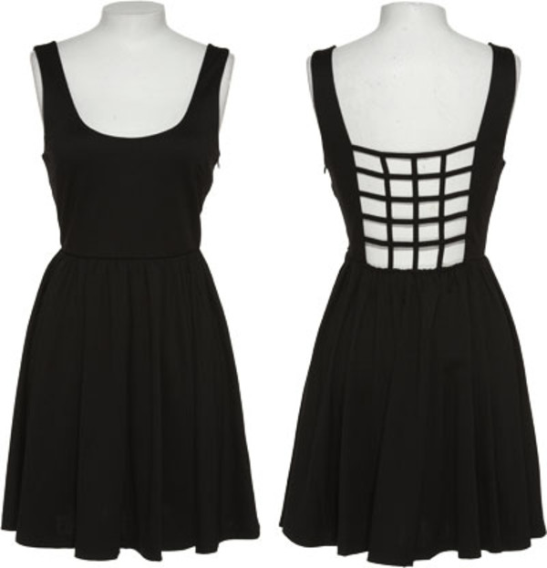 dress caged caged dress little black dress black dress black open back