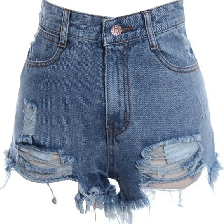 Burr hole, denim shorts