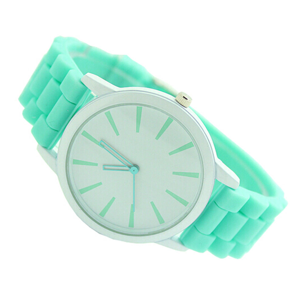 [grxjy51500018]Candy Color Cute GENEVA Silicone Analog LED Electronic Watch
