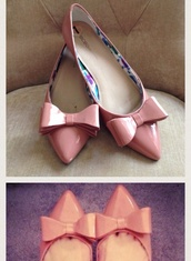 shoes,rose,pointed flats,bow flats,blush,light pink,baby pink,miu miu,bikini,beach,swimwear