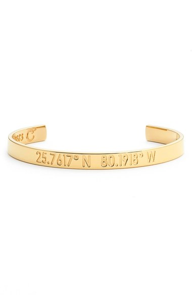 Coordinates Collection 'Compass - Legend' Engraved Cuff   Nordstrom