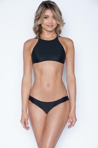 top frankies bikini bikini top black crop tops halter top bikiniluxe