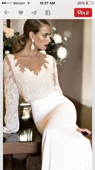 dress gown white dress