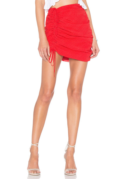 Lovers + Friends skirt red