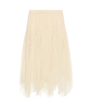 skirt silk white