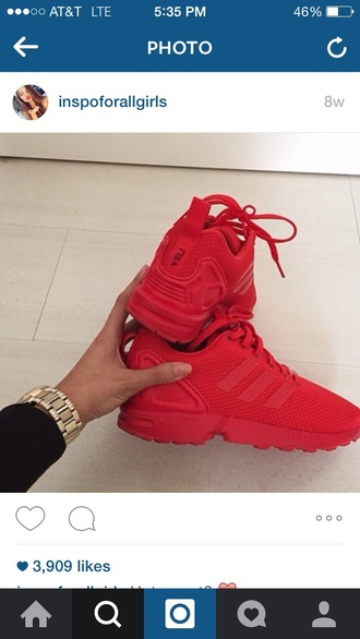 shoes red shoes cute valentines day gift idea pretty tumblr adidas