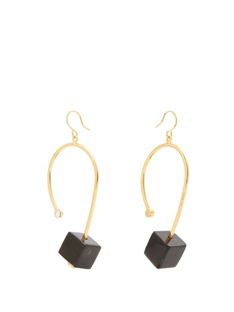 MARNI earrings black jewels