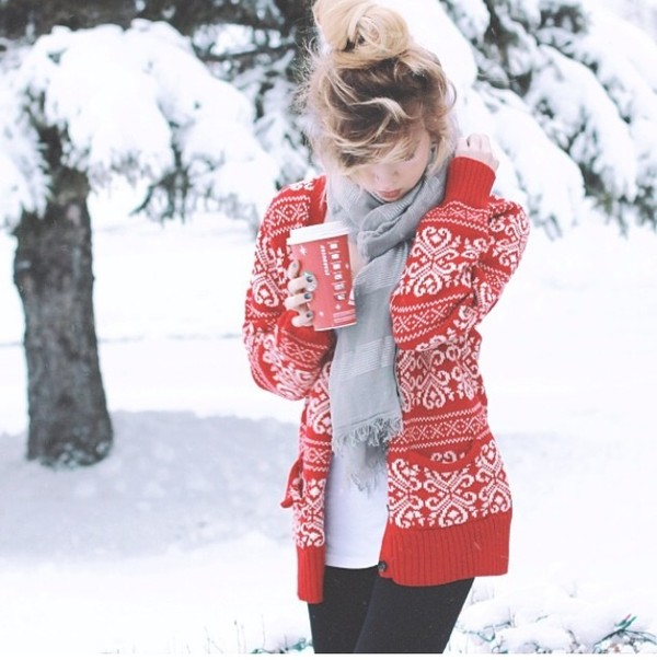 Women Knitwear Thick Winter Hooded Cardigan Coat Loose Sweater ...