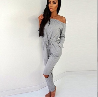 jumpsuit grey casual
