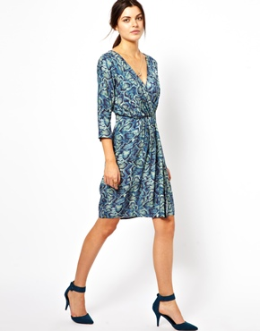 Closet | Closet Snakeskin Wrap Dress at ASOS