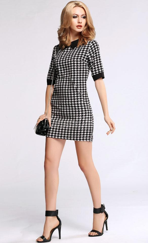 Lethalbeauty ? houndstooth mini dress