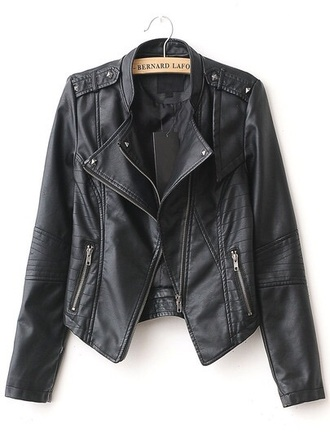 jacket leather black black leather biker cute cute jacket leather jacket black jacket biker jacket black leather jacket fashion style