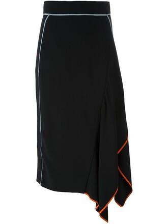 skirt midi skirt asymmetrical midi black