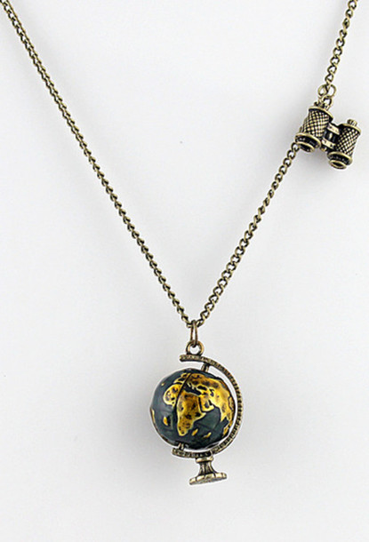 Jewels map map necklace world necklace Wheretoget