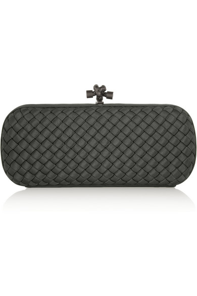 The knot intrecciato faille clutch