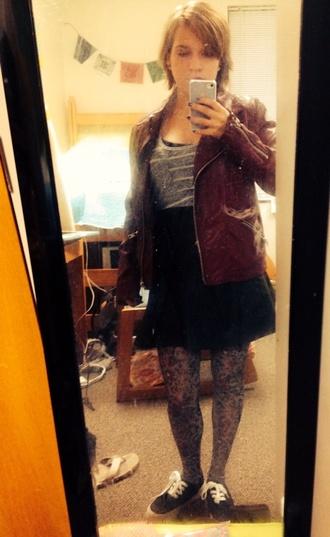 jacket burgundy leather jacket red indie punk grunge soft grunge hipster leather