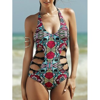 swimwear rose wholesale tribal pattern summer trendy hippie girl