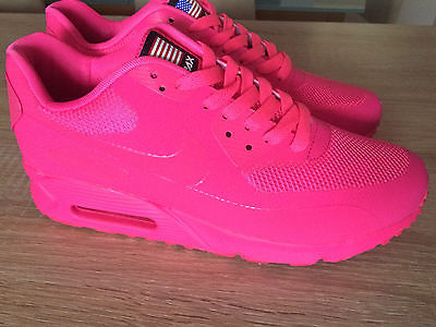 Nike Air Max 90 Hyperfuse Pink Running Shoes US Size 8 Euro
