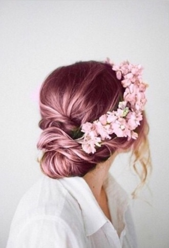 hair accessory flower crown pastel hair