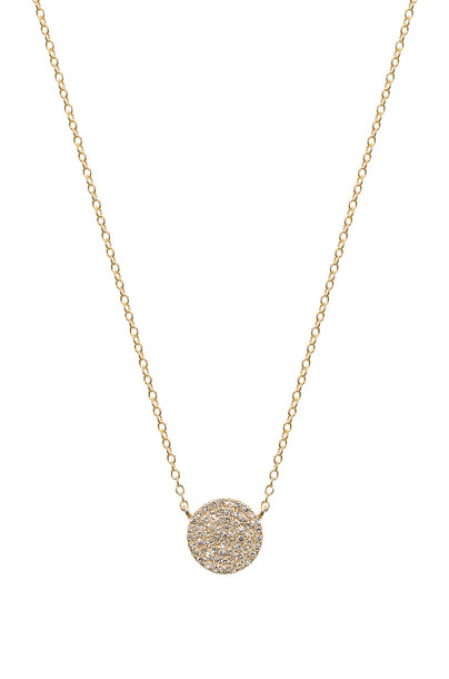 Sachi Diamond Disc Station Necklace in gold / metallic