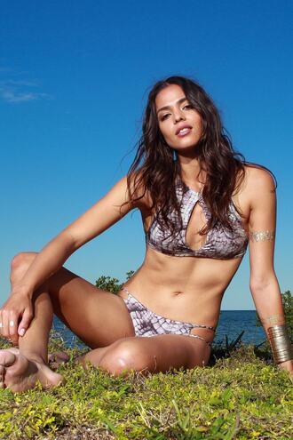 top bikini top halter top print purple racerback swimwear bikiniluxe