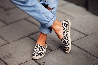 print leopard print summer shoes