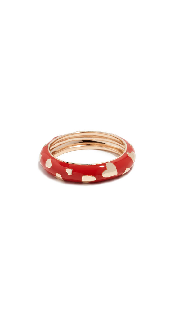 Alison Lou 14k Amour Band Ring in tomato