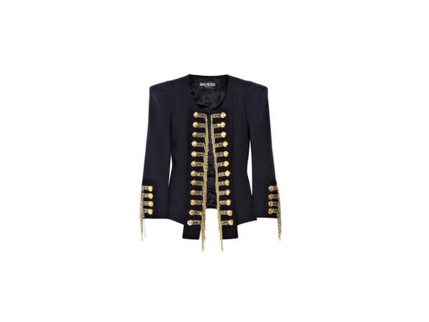 jacket navy Navy jacket blue gold balmain military style army green jacket 6e7497b126c