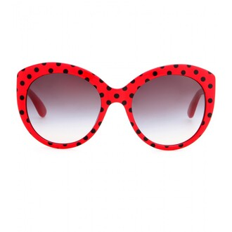 sunglasses coccinelle red black dots points cute dolce and gabbana sweet glasses summer sun wanted love