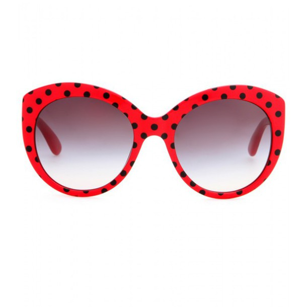 9796cda1572c sunglasses coccinelle red black polka dots points cute dolce and gabbana  sweet glasses summer sun wanted