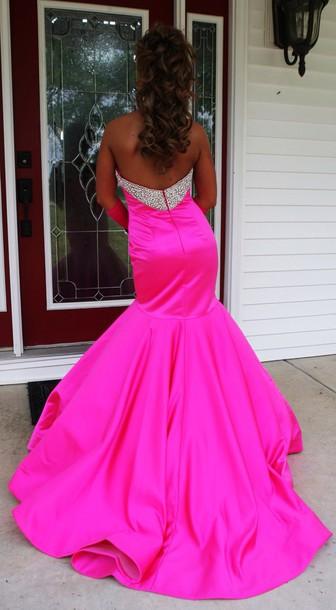 dress pink sequin dress mermaid prom dress prom dress