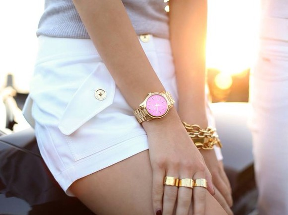jewels jewelery gold fashion pink michael kors watch blogger fashion blogger