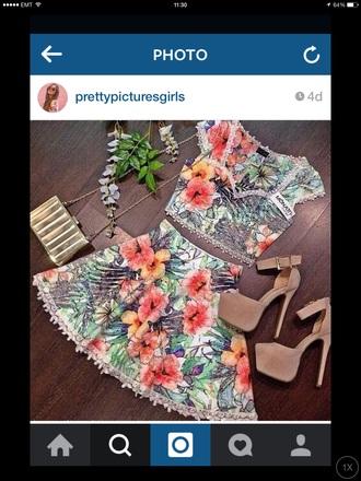 skirt flowery flowers colourful colourful skirt matching flowery skirt