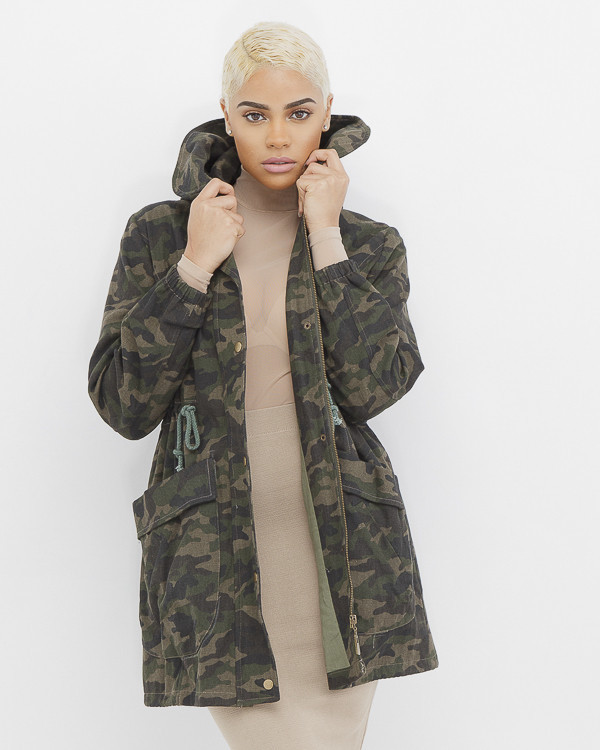 femme in charge camouflage army jacket at flyjane. Black Bedroom Furniture Sets. Home Design Ideas