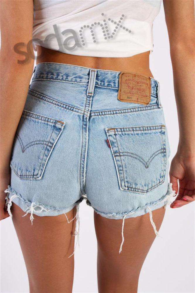Vintage Levi's 501 High Waisted Hotpant Stone Wash Denim Shorts | eBay