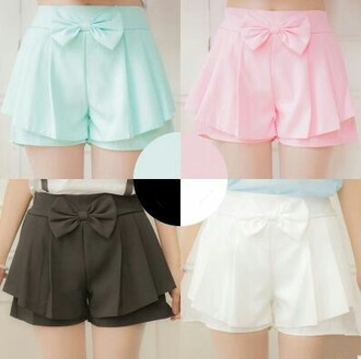 shorts mini shorts bow pink pastel