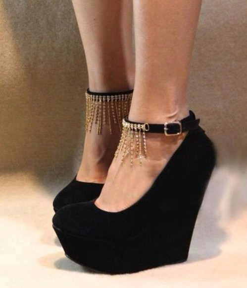 shoes black platforms