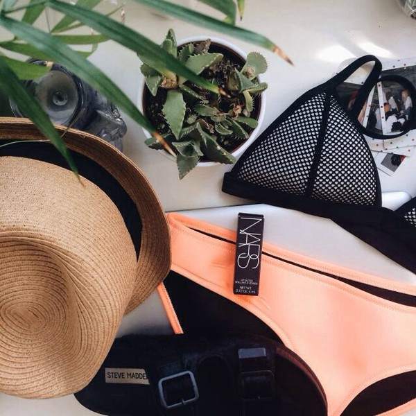 swimwear swimwear bikini nars cosmetics make-up summer make-up girly festival underwear pink bottom