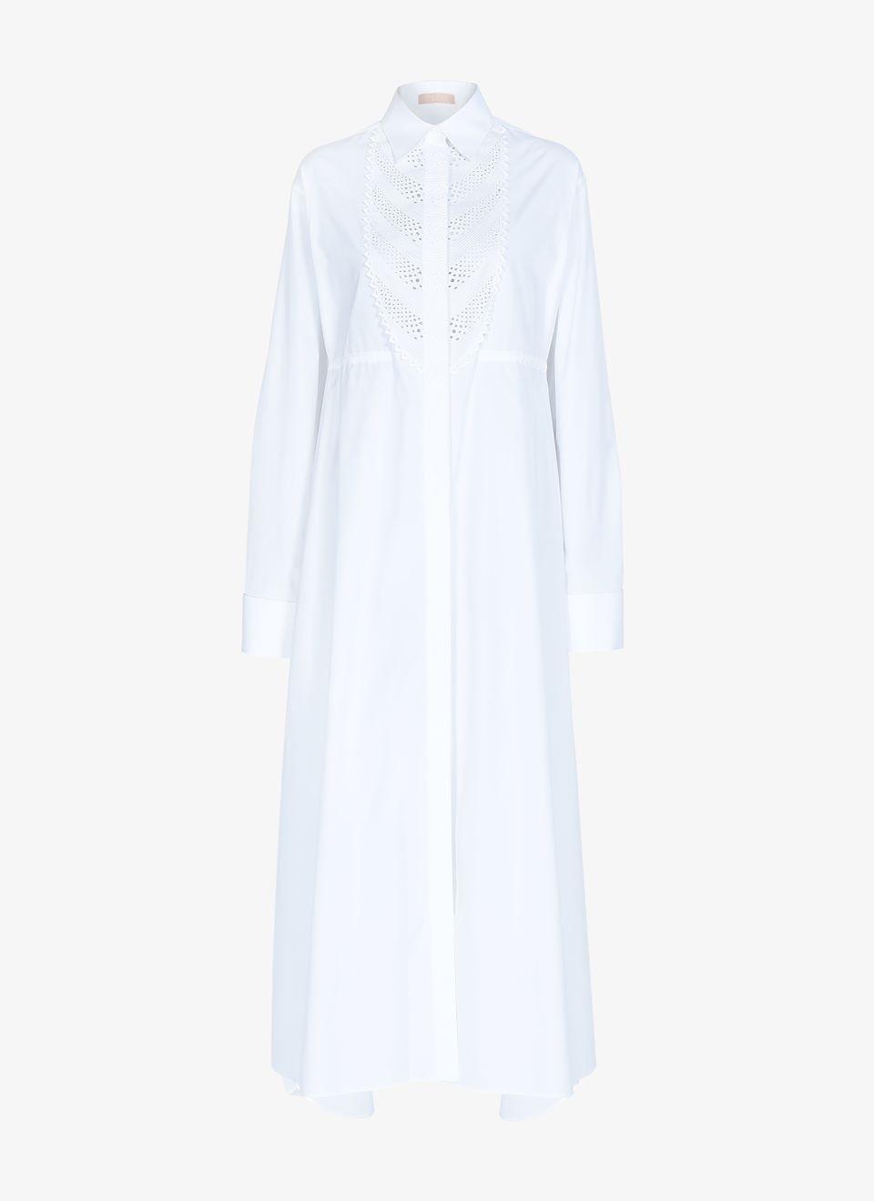 Alaïa Shirt in Cotton, Size 8, Color White