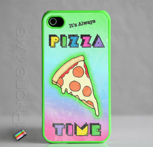 Fits Apple iPhone 4 4S It's Always Pizza Time Case Cover Slice Pepperoni Cheese | eBay